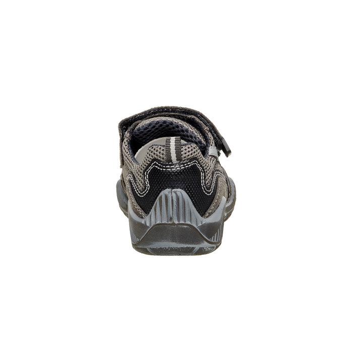 Dětské Kožené tenisky na suché zipy mini-b, šedá, 213-2130 - 17
