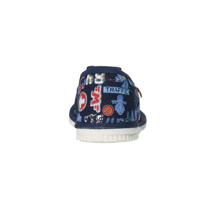 Dětská domácí obuv bata, modrá, 279-9104 - 17