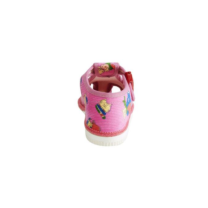 Dětská domácí obuv bata, růžová, 179-5210 - 17