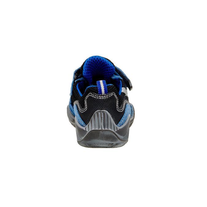 Dětské Kožené tenisky na suché zipy mini-b, modrá, 413-9130 - 17