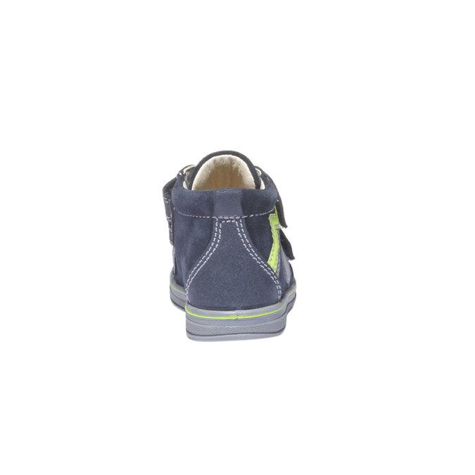 Kožené kotníkové boty na suché zipy primigi, modrá, 113-9121 - 17