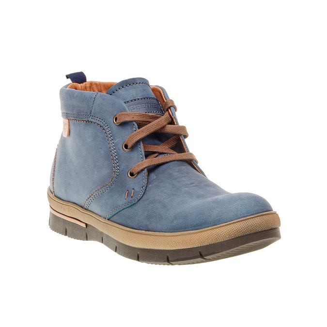 Kožená kotníčková obuv weinbrenner, modrá, 896-9209 - 13