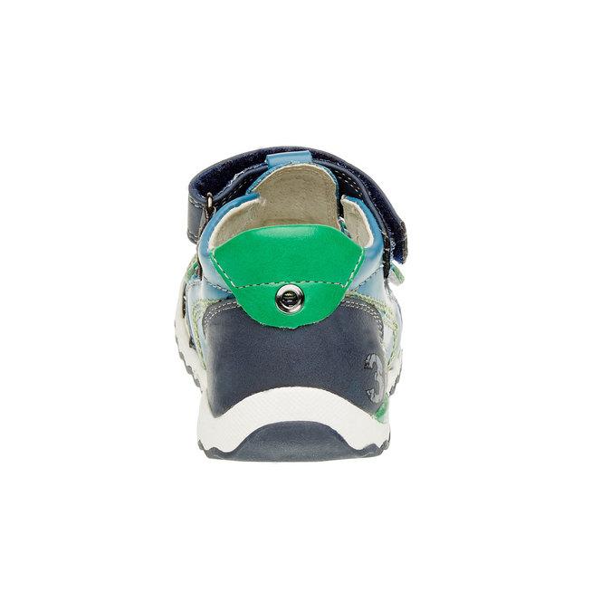 Dětské kožené sandály bubblegummer, modrá, 114-9144 - 17