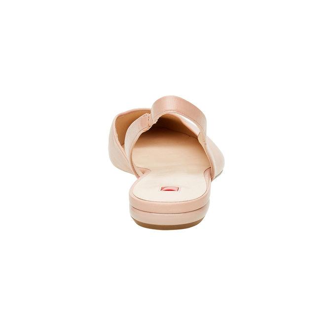 Kožené baleríny do špičky hogl, růžová, 524-8013 - 17