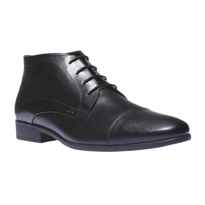Kožené kotníčkové boty se zateplením bata, černá, 894-6436 - 13