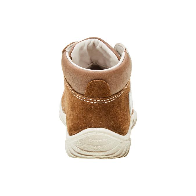 Dětské kožené tenisky ke kotníkům richter, hnědá, 113-9015 - 17