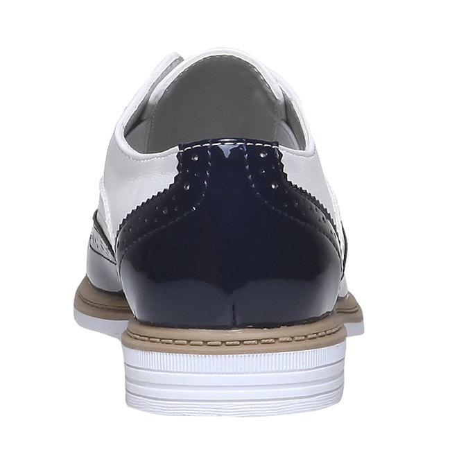 Dětské polobotky ve stylu Spectator shoes mini-b, černá, 321-6178 - 17
