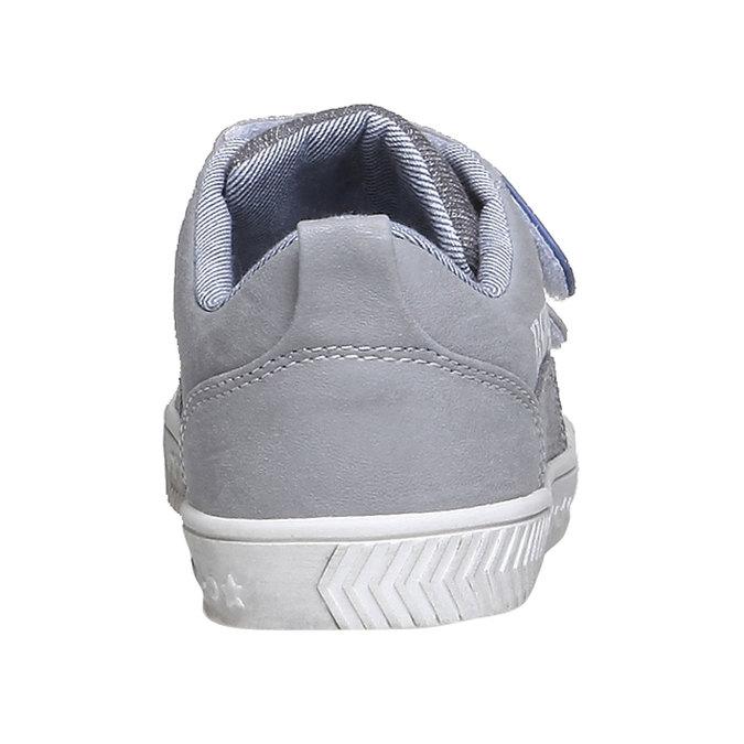 Dětské tenisky na suché zipy mini-b, šedá, 211-2157 - 17