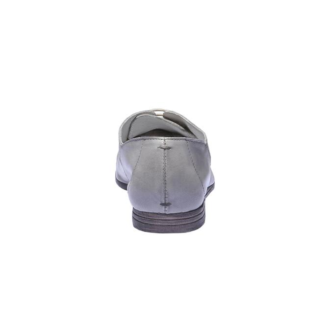 Kožené polobotky bata, šedá, 524-2169 - 17