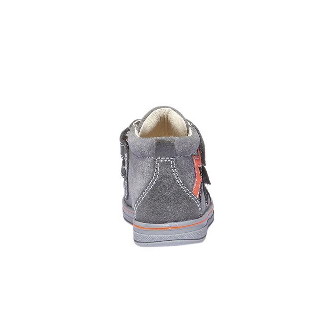 Kožené kotníkové boty na suché zipy primigi, šedá, 113-2121 - 17
