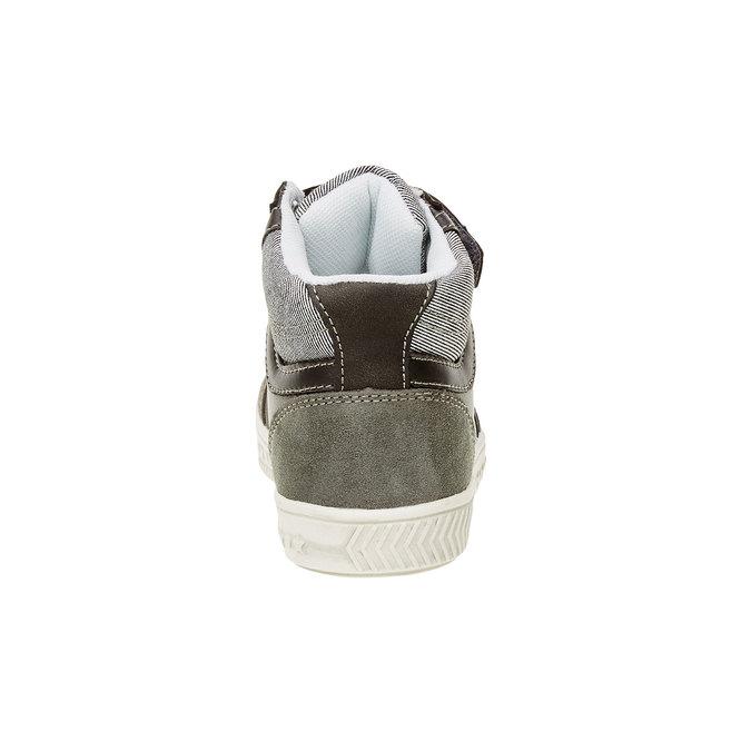Dětské kotníčkové tenisky mini-b, šedá, 211-2156 - 17