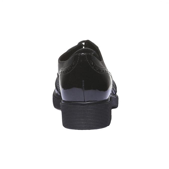 Dámská obuv na masivní podešvi bata, černá, 521-6114 - 17