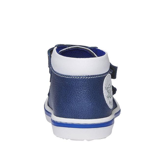 Dětské kožené tenisky na suché zipy bubblegummer, modrá, 114-9147 - 17