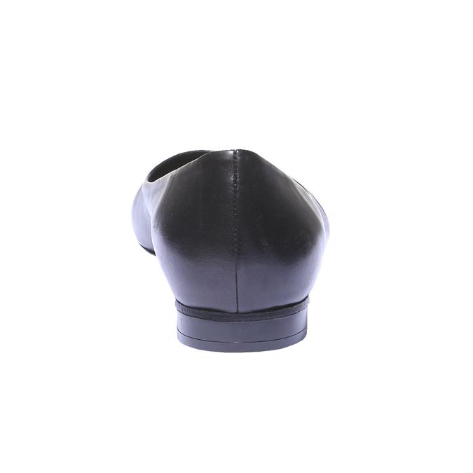 Kožené baleríny bata, černá, 524-6207 - 17