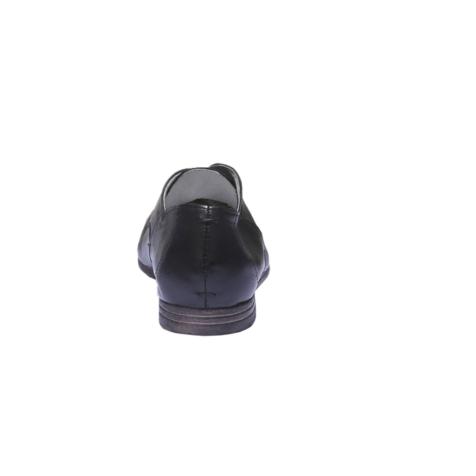 Kožené polobotky bata, černá, 524-6169 - 17