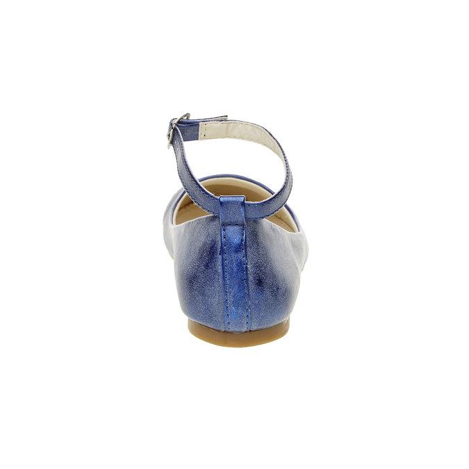 Modré baleríny s páskem mini-b, modrá, 321-9181 - 17