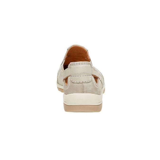 Neformální kožené polobotky bata, béžová, 524-3116 - 17