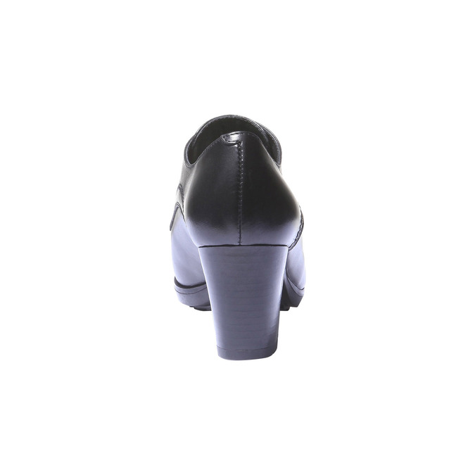 Dámské kožené polobotky na podpatku bata, černá, 724-6792 - 17