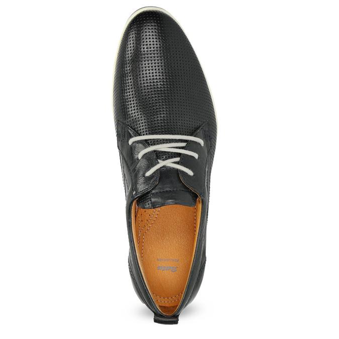 Ležérní kožené polobotky bata, černá, 824-9124 - 17