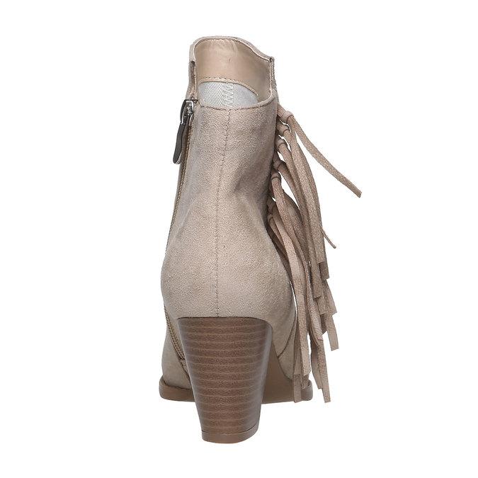 Kotníčkové kozačky s třásněmi bata, béžová, 799-8628 - 17