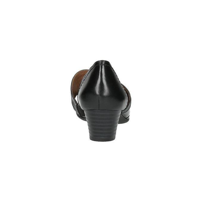 Dámské kožené lodičky bata, černá, 624-6153 - 17