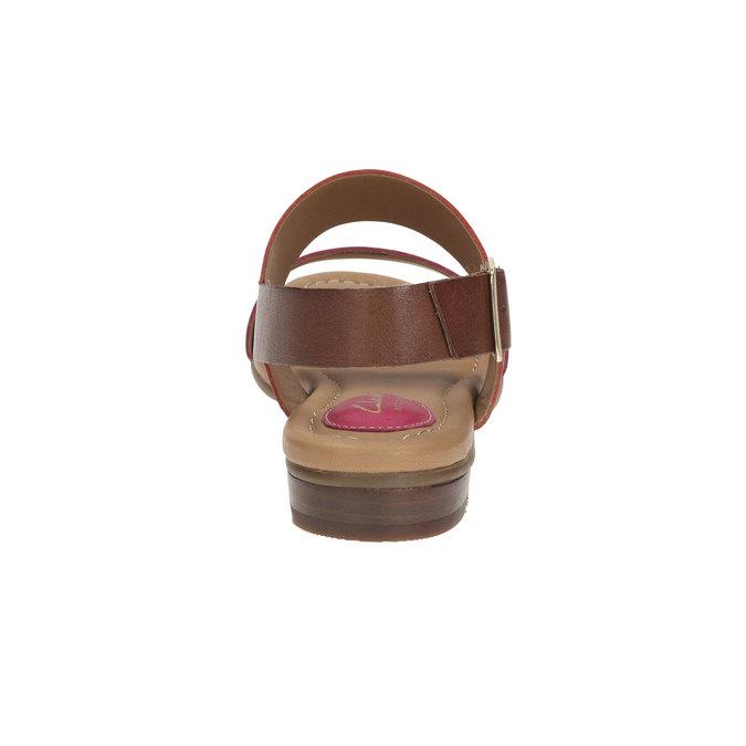 Kožené sandály s barevnými pásky clarks, červená, 564-5010 - 17