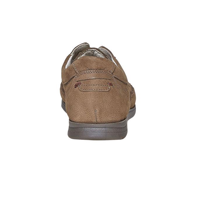 Ležérní kožené polobotky comfit, hnědá, 856-3183 - 17