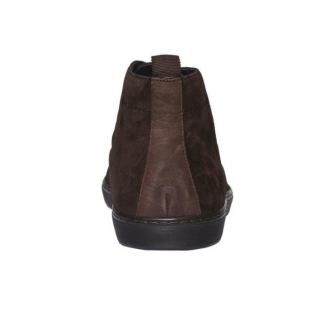 Semišové polobotky bata, hnědá, 893-4387 - 17