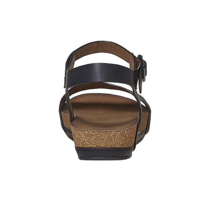 Dámské sandály na výrazné podešvi bata, černá, 561-6404 - 17