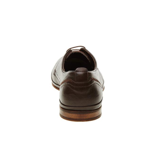 Pánské kožené polobotky bata, hnědá, 824-4300 - 17