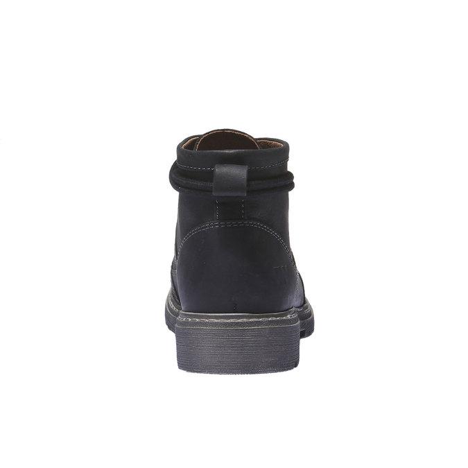 Kožená obuv s originálními tkaničkami weinbrenner, černá, 594-6409 - 17