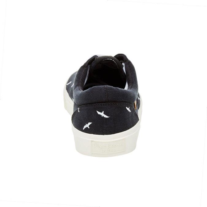 Pánské černé ležérní tenisky pepe-jeans, černá, 849-6007 - 17