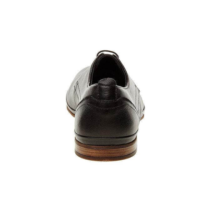 Kožené polobotky v Derby střihu bata, černá, 824-6300 - 17