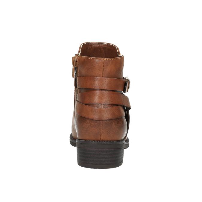 Kotníčková obuv hnědá bata, hnědá, 591-4602 - 17