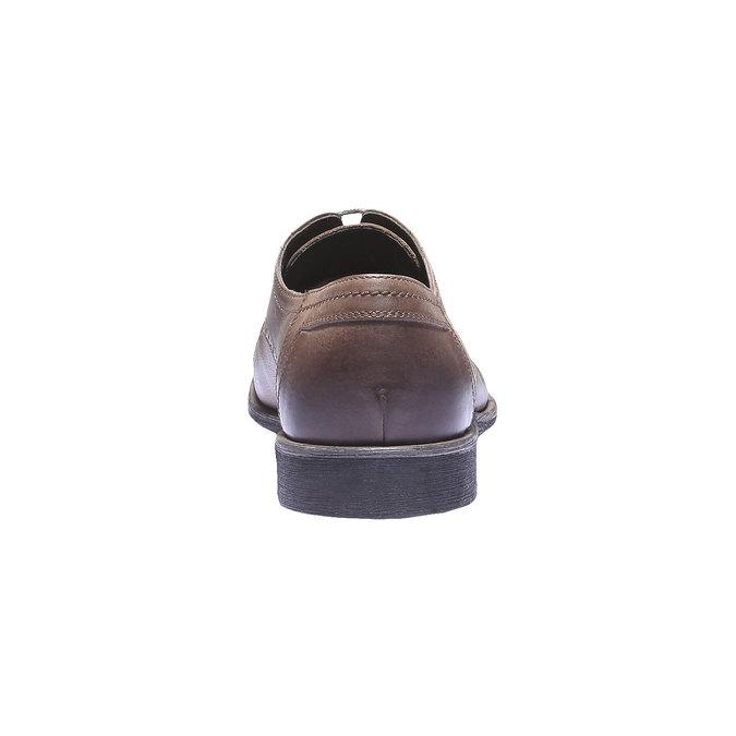 Kožené polobotky v Derby stylu bata, hnědá, 824-3274 - 17