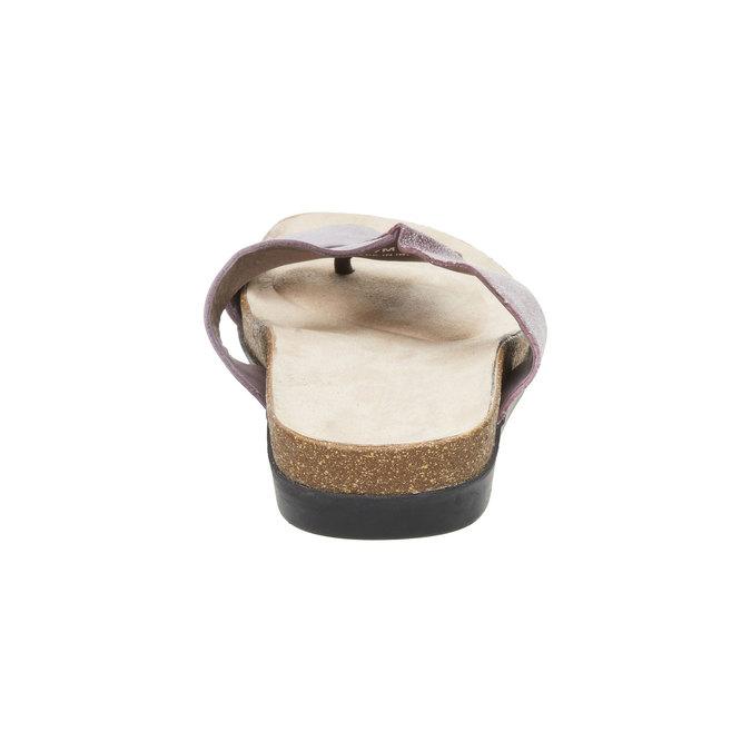 Dámské kožené nazouváky rockport, fialová, 566-9100 - 17