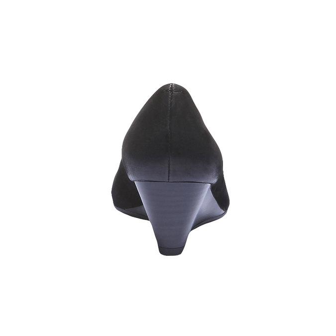 Kožené lodičky s prodlouženou špičkou bata, černá, 626-6103 - 17