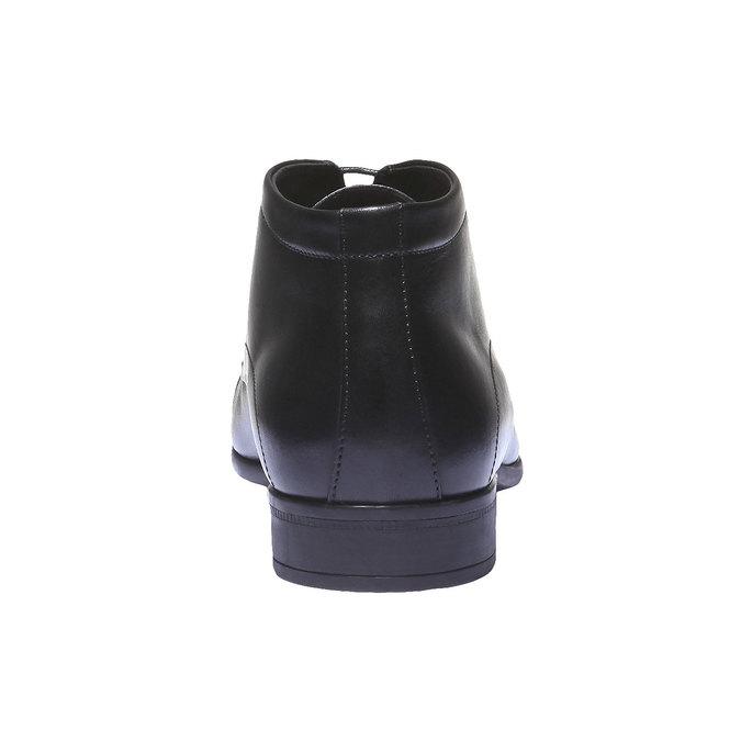 Kožené kotníčkové boty se zateplením bata, černá, 894-6436 - 17