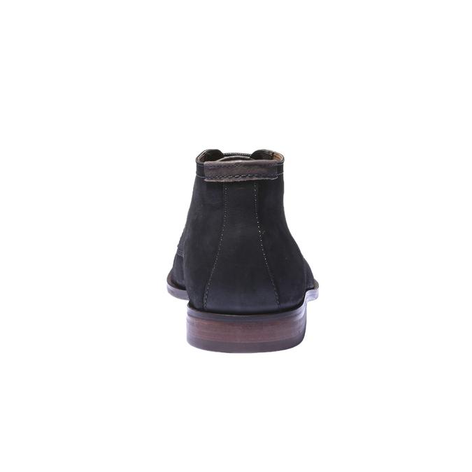Kožená obuv v Chukka stylu bata, černá, 844-6171 - 17