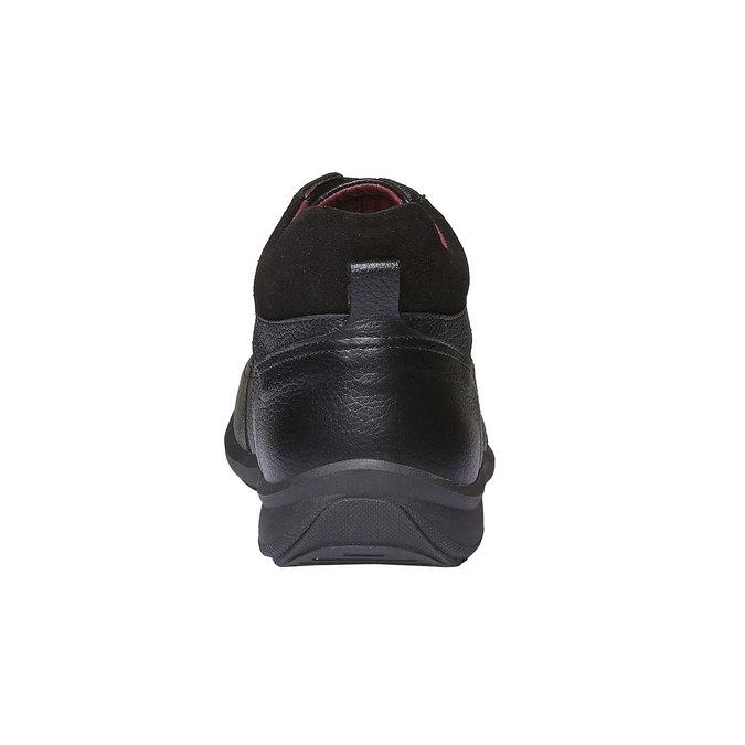 Kožené kotníkové polobotky comfit, černá, 894-6384 - 17