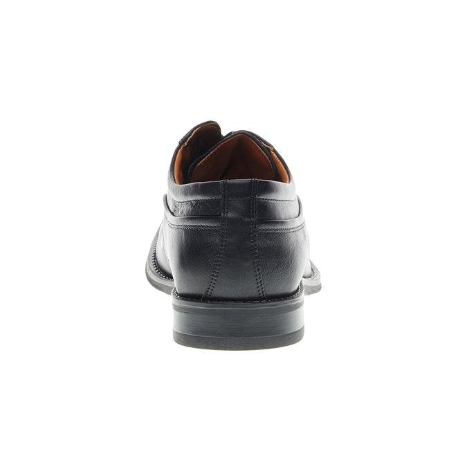 Pánské kožené polobotky v Derby střihu bata, černá, 824-6498 - 17
