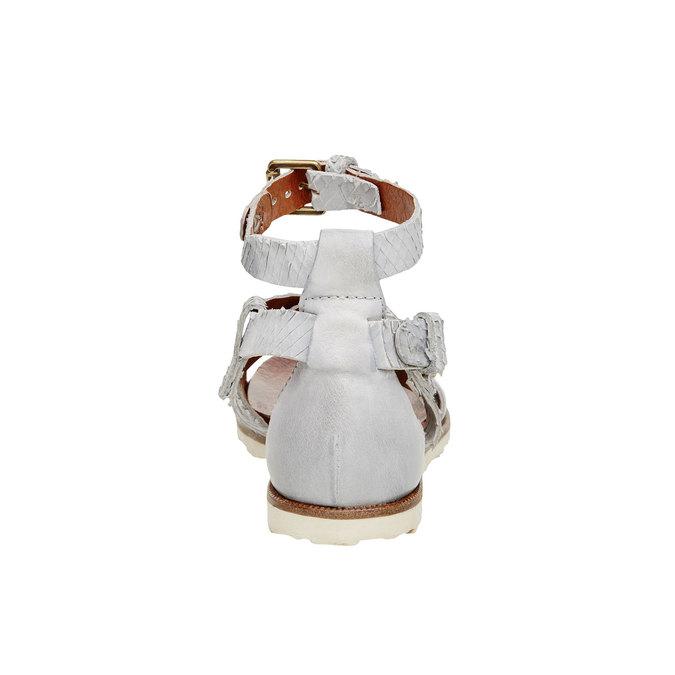 Dámské kožené sandály bata, 566-1103 - 17