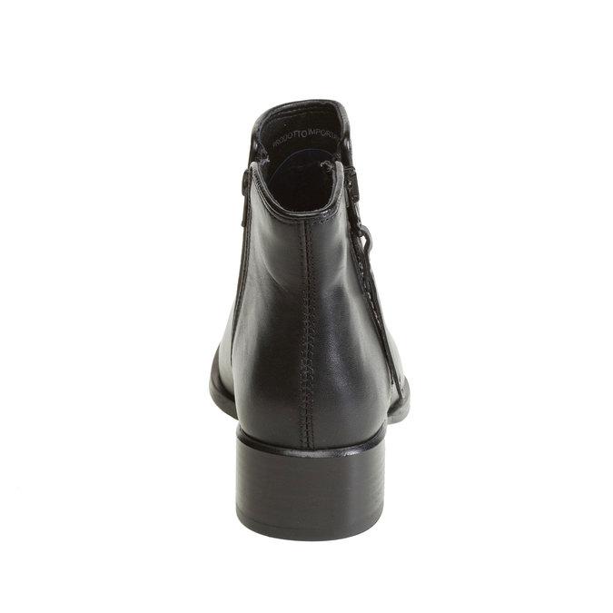 Kožená kotníčková obuv bata, černá, 594-6145 - 17