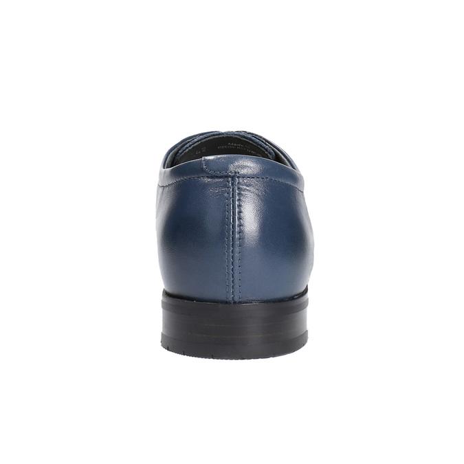 Pánské kožené polobotky bata, modrá, 824-9669 - 17