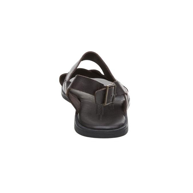 Pánské kožené sandály rockport, černá, 864-6106 - 17