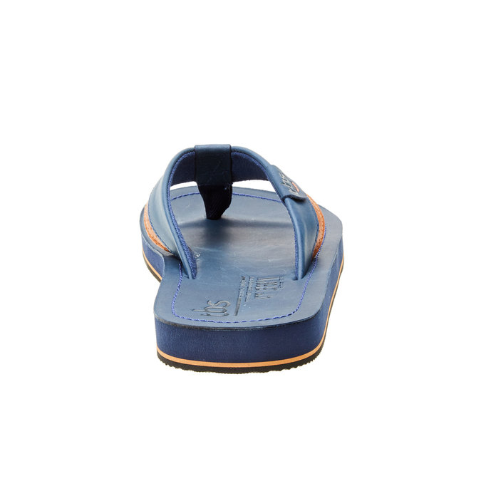Pánské kožené žabky s pryžovou podešví tbs-, modrá, 864-9002 - 17