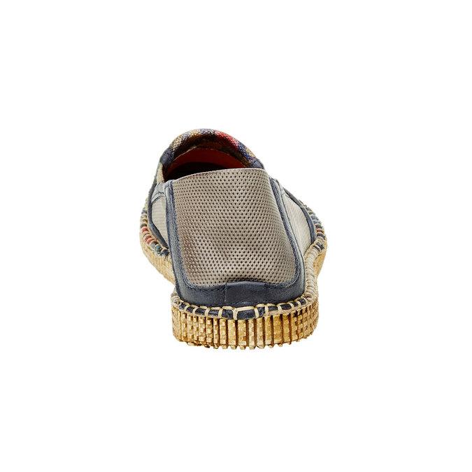 Pánská obuv Slip on s květinovým vzorem a-s-98, béžová, 816-9003 - 17