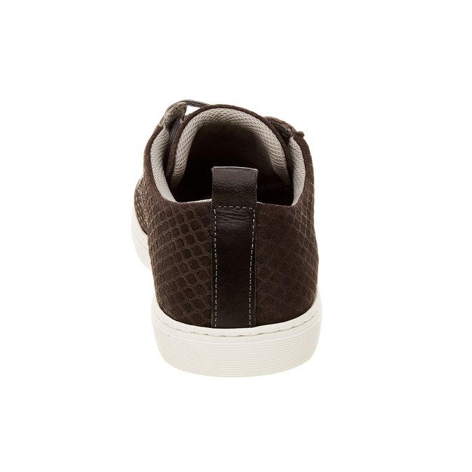 Ležérní kožené tenisky se strukturou bata, hnědá, 843-2320 - 17