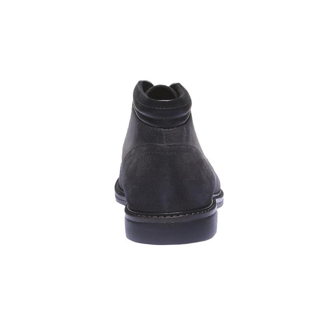 Pánské semišové boty bata, šedá, 893-2261 - 17