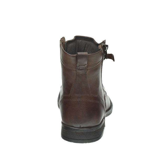 Kožená kotníčková obuv bata, hnědá, 894-4449 - 17